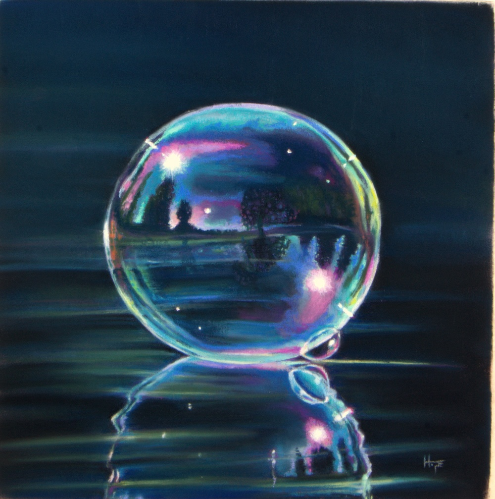 in a soap bubble